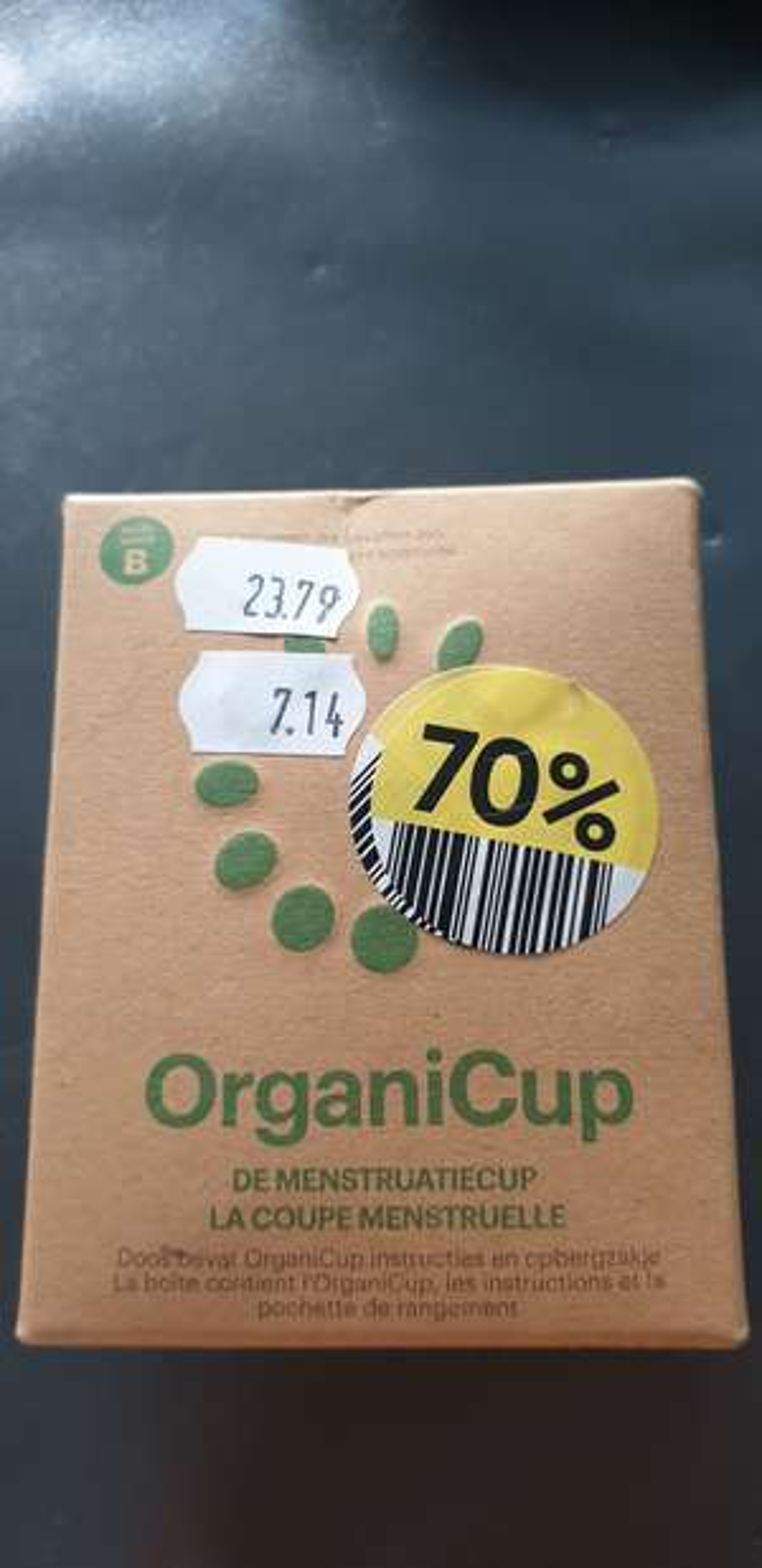 Organicup menstruatiecup 70% korting lokaal?