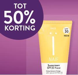 Weekdeal: 50% korting op Naïf producten @Holland & Barrett (Let op: Maandag 28-06-2021=shopping night met 10% extra korting op gehele site)