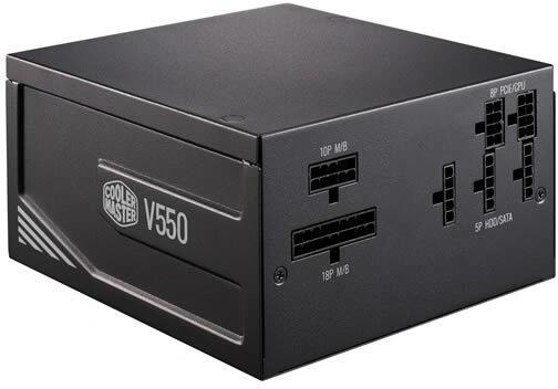 Cooler Master V550 volledig modulair - 550 Watt - 80 PLUS Gold