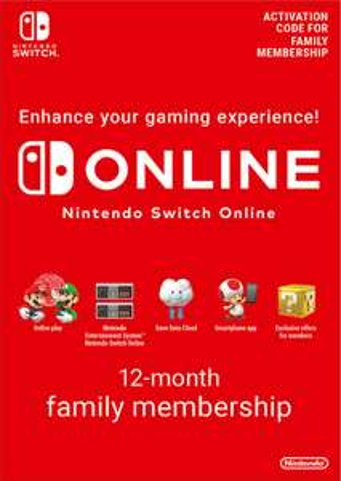 Nintendo Switch online Family 12 maanden @CDKeys