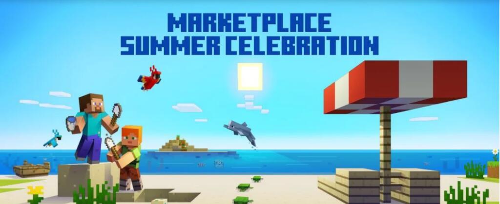 Minecraft Bedrock Zomersale met gratis maps