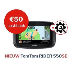 TomTom Rider 550SE met 1 jaar EXTRA garantie (3 totaal) en TomTom app