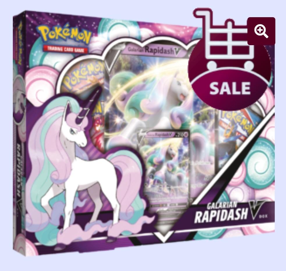 Pokemon Galarian Rapidash V Box bij de Spelvogel