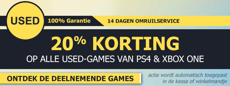 Tijdelijk 20% korting op alle PS4 en XB1 USED games @ Game Mania