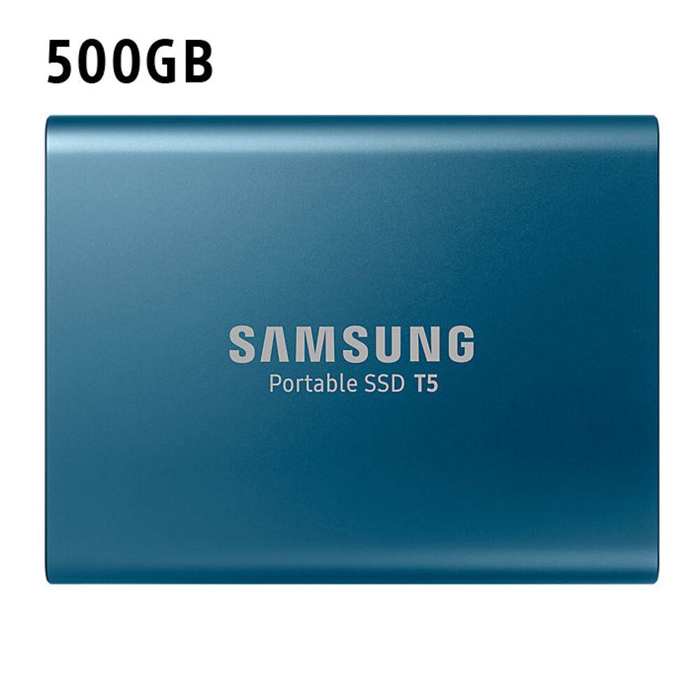 Samsung Portable SSD T5 500GB Blauw @ Game Mania