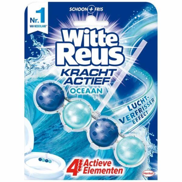 Witte Reus Toiletblok (4 Voor 5-,) + Gratis Led-toiletverlichting