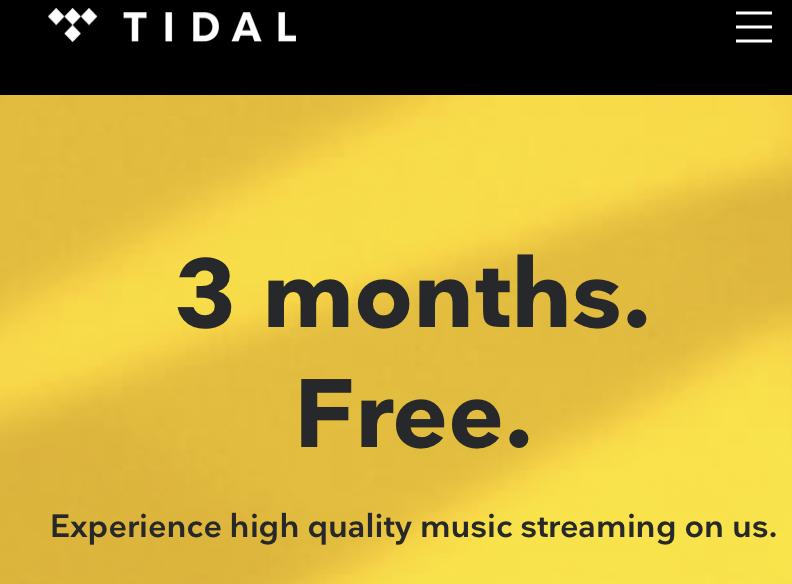 Tidal Premium 3 maanden gratis