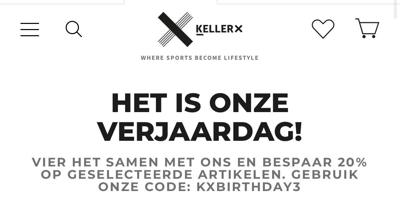 Keller Sport 20% korting