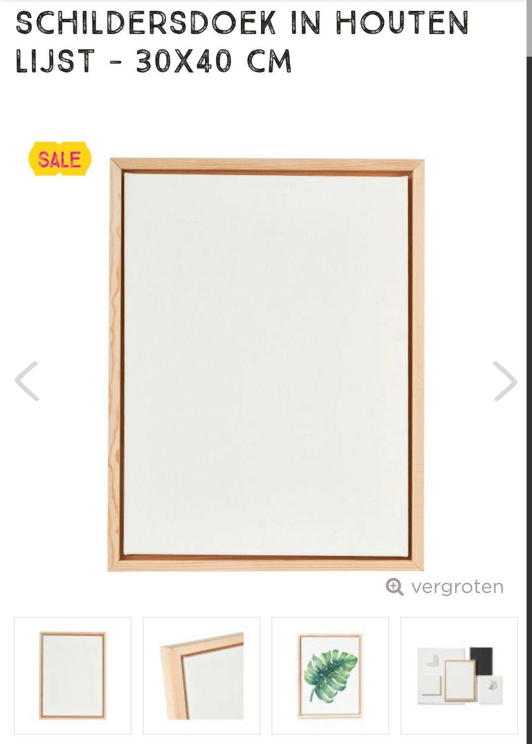 Xenos Canvas met houten lijst 30x40 cm
