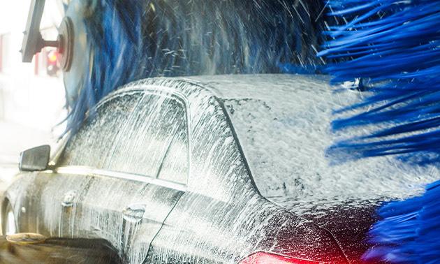 Auto wassen bij BP