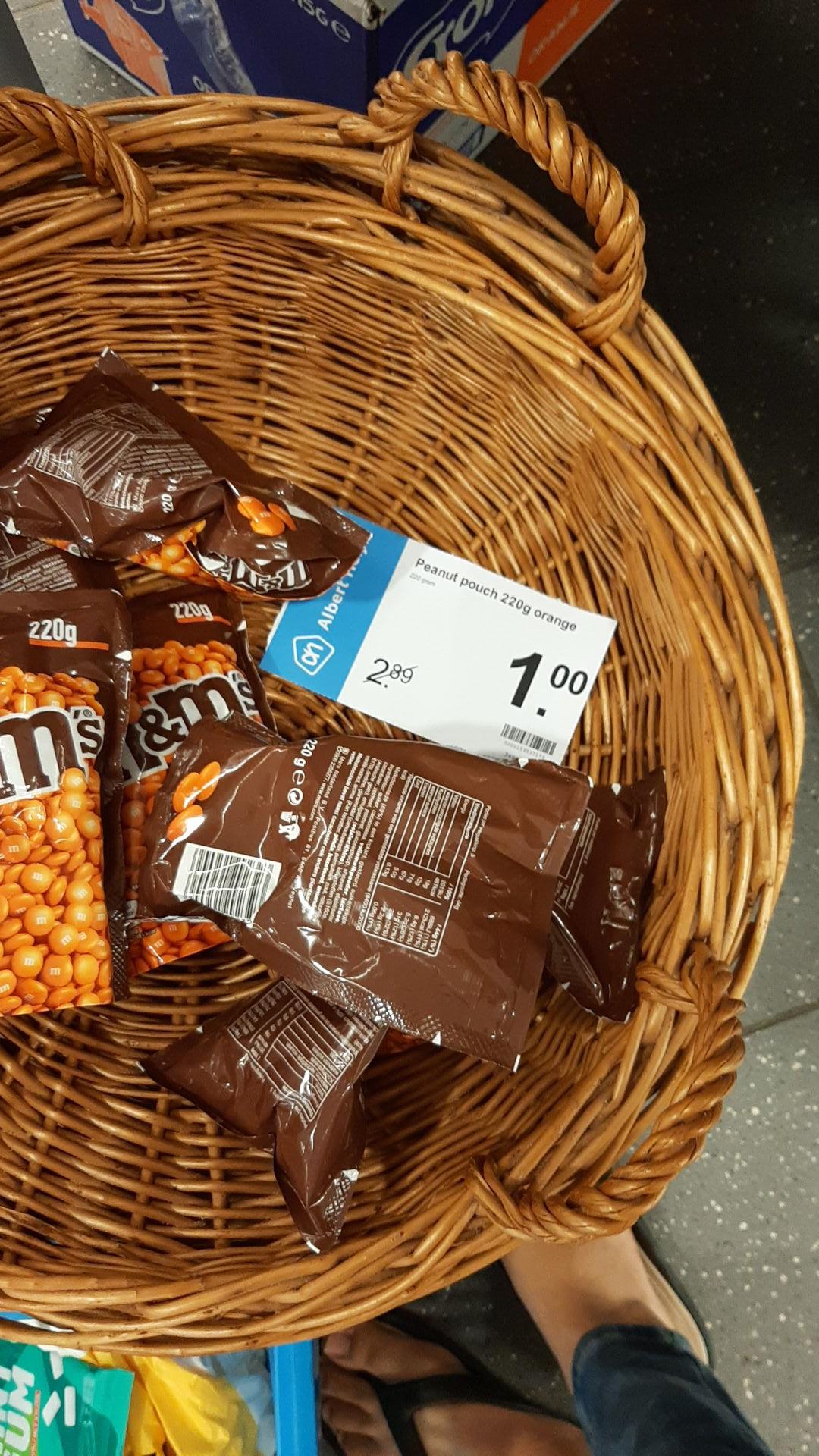 [Lokaal] M&M'S Peanut pouch 220g Orange €1 @Albert Heijn Hoogerheide