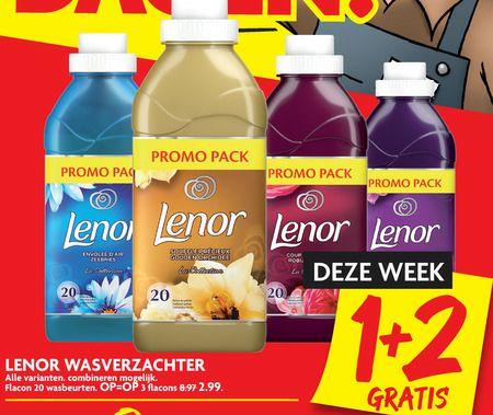 Lenor wasverzachter 3 voor 2.99 (1+2 gratis) bij dekamarkt