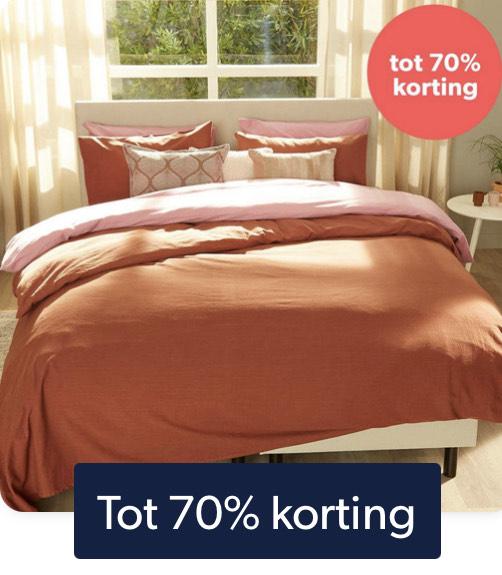 Tot 70% korting op beddengoed @ Wehkamp.nl
