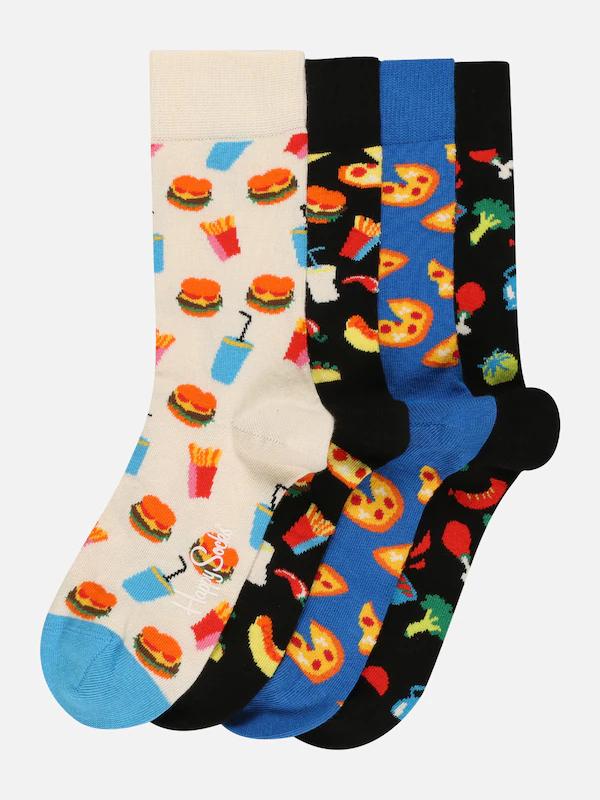 Happy Socks 4-pack sokken 'Foodlovers'