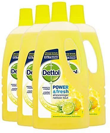 [Prime] Dettol Power en Fresh Allesreiniger Citroen en Limoen 4 x 1 Liter