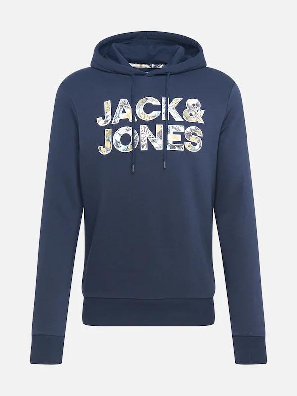 Jack & Jones Fleur heren hoodie navy voor €9,90 @ About You