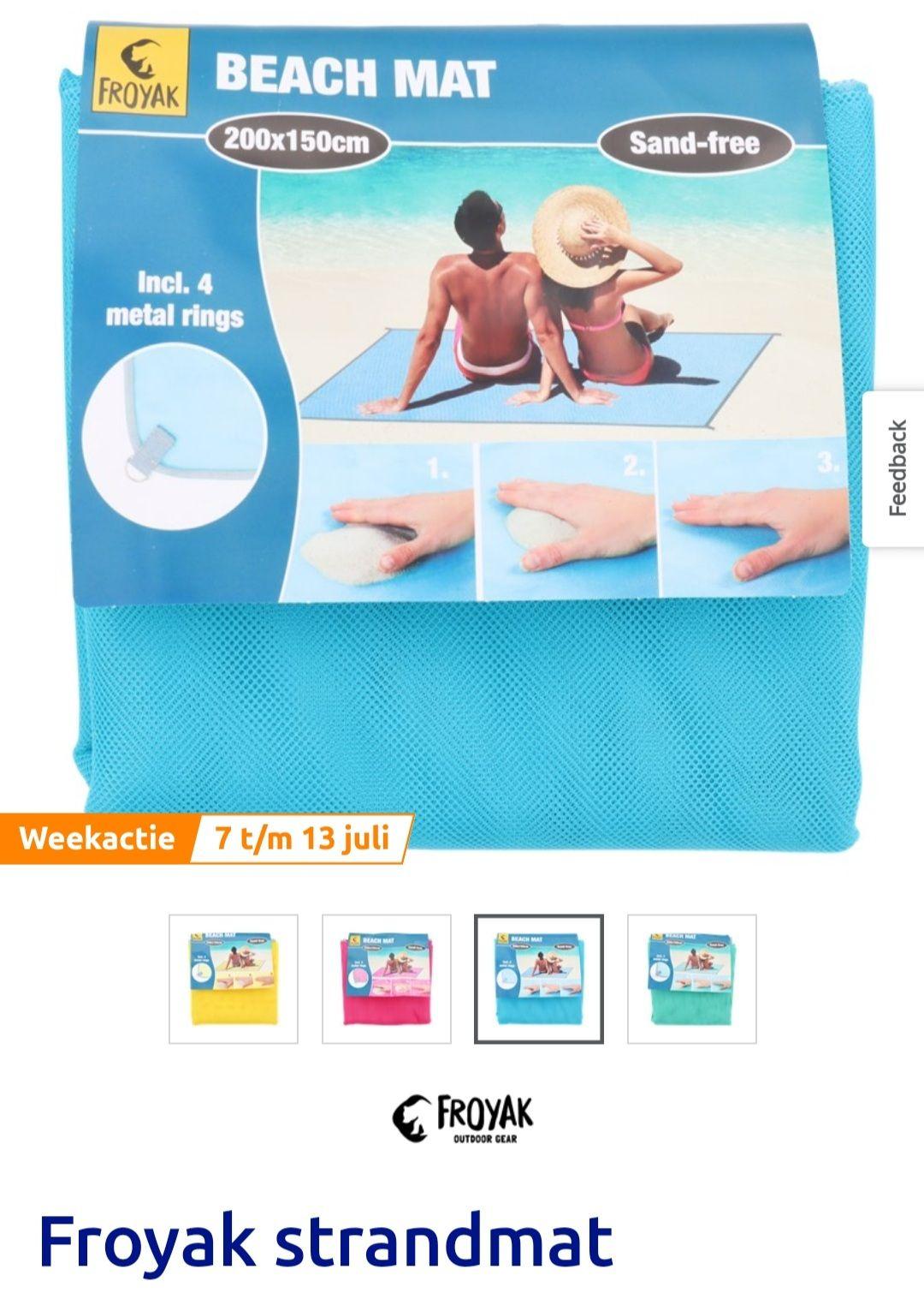 Action Froyak strandmat zandvrij in diverse kleuren voor 3.13