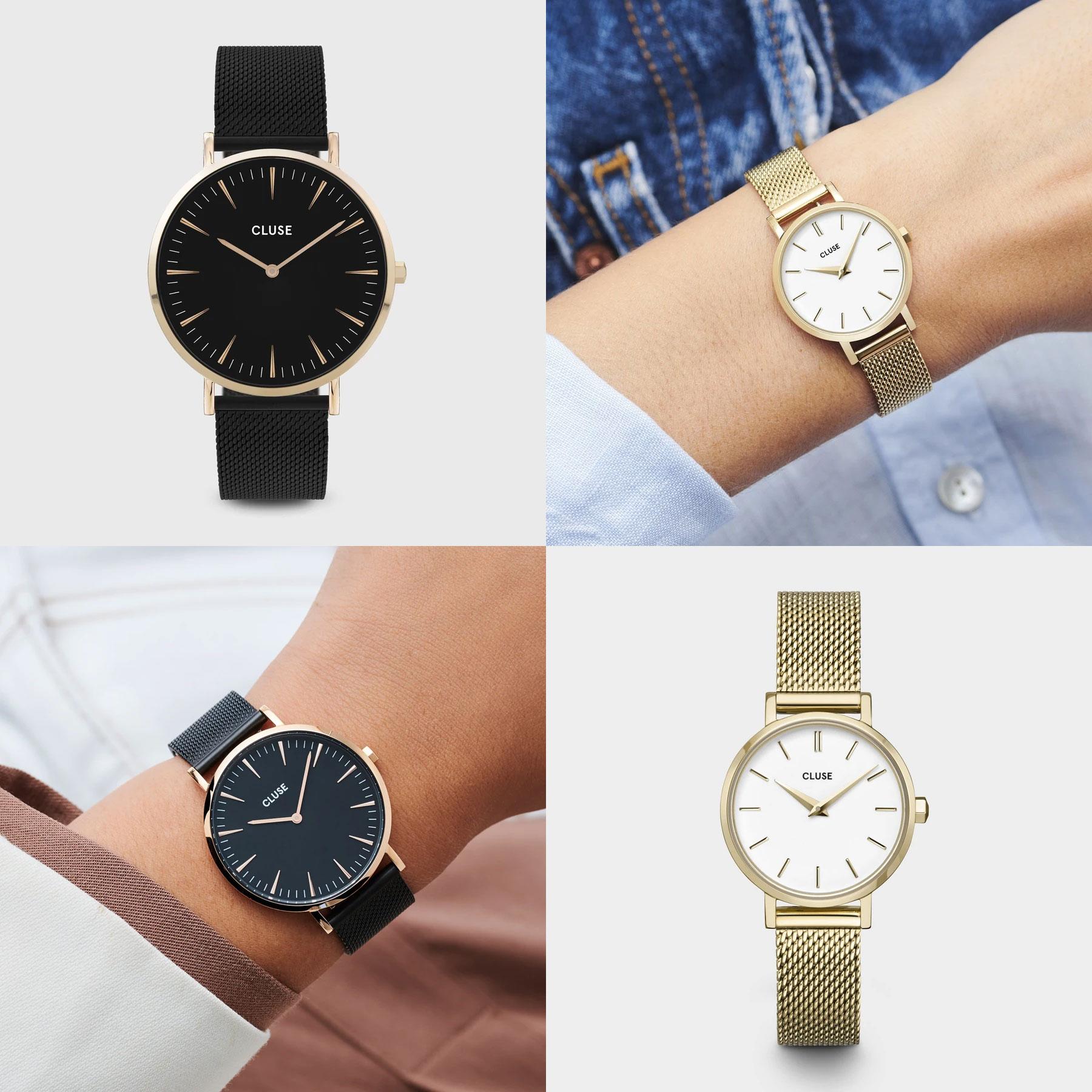 CLUSE horloges - 2 modellen - 20% extra korting