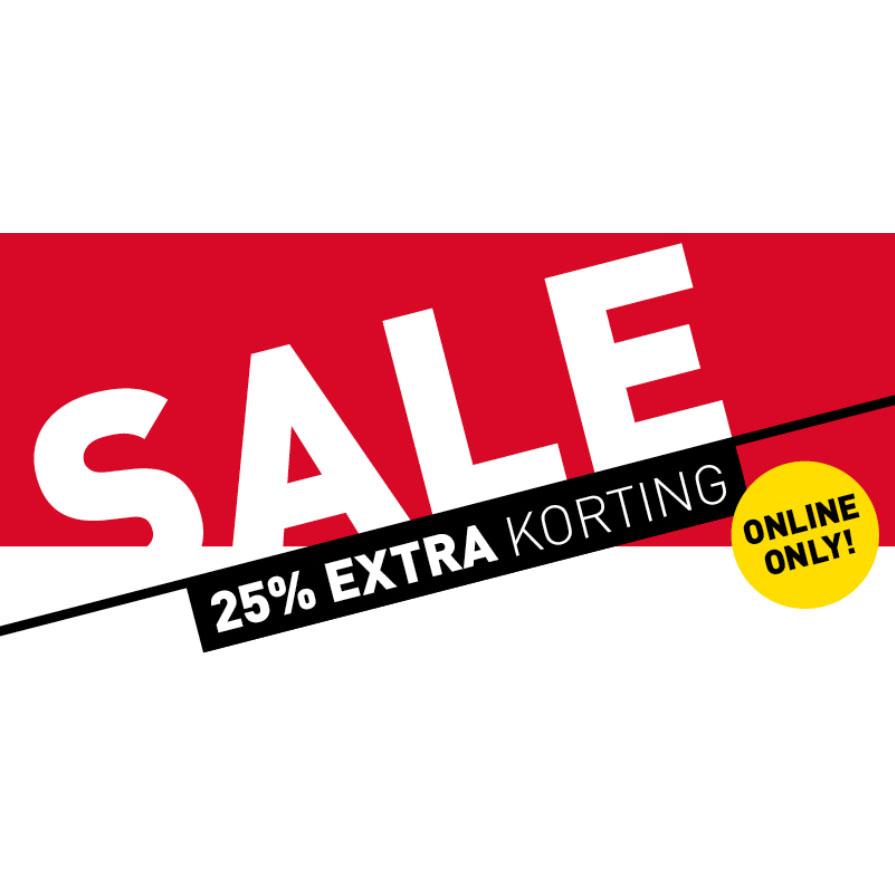 Actie: veel items 25% EXTRA korting + GRATIS verzending