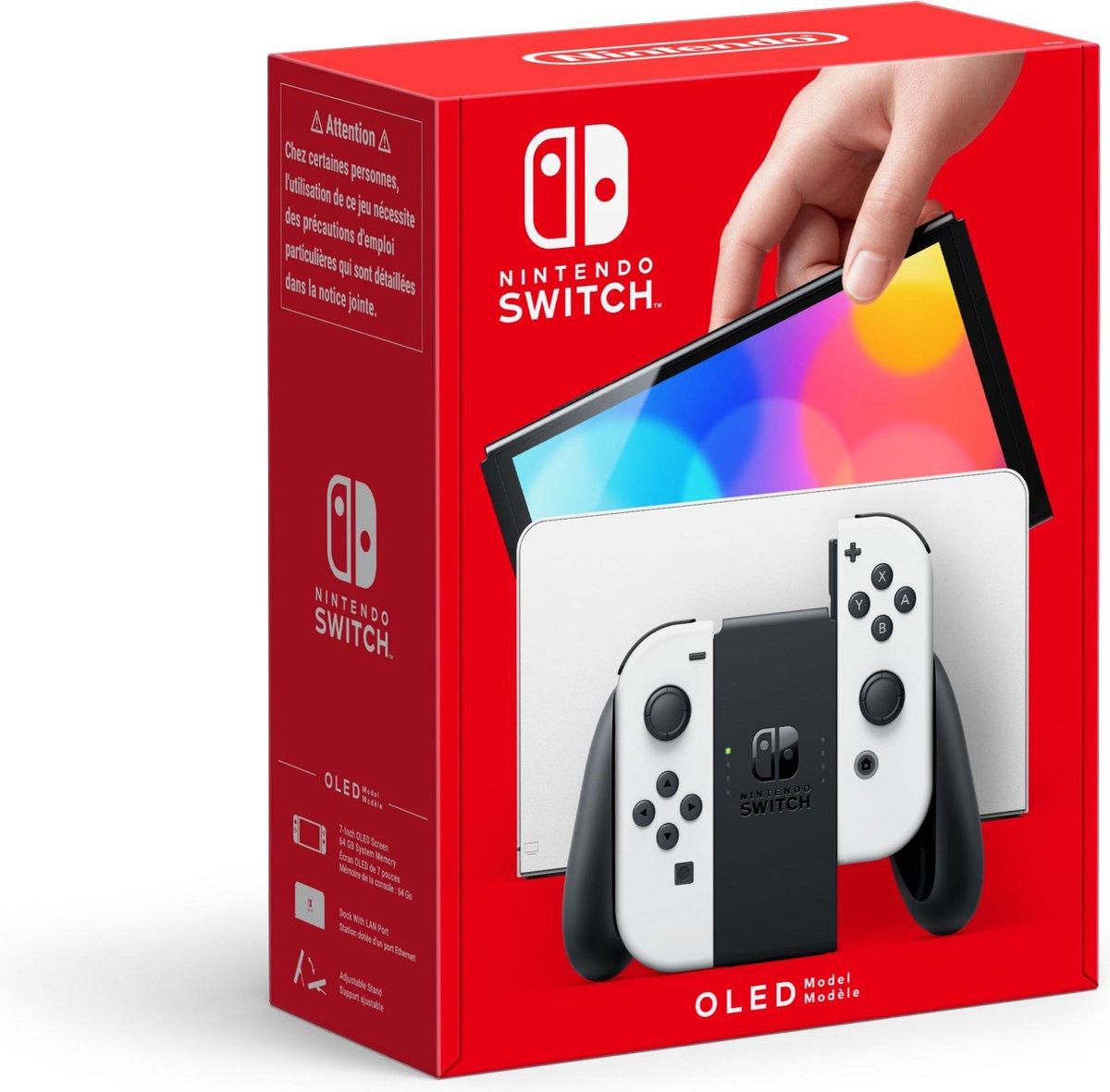 Nintendo switch OLED (Wit & blauw-rood) pre-order @Bol.com