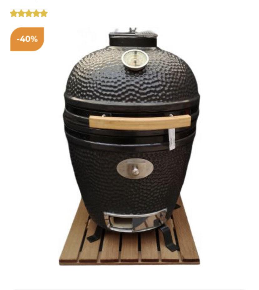 Tuincentrum Osdorp - Own grill keramische kamado barbecue large inbouw grijs/antraciet (exclusief voet)