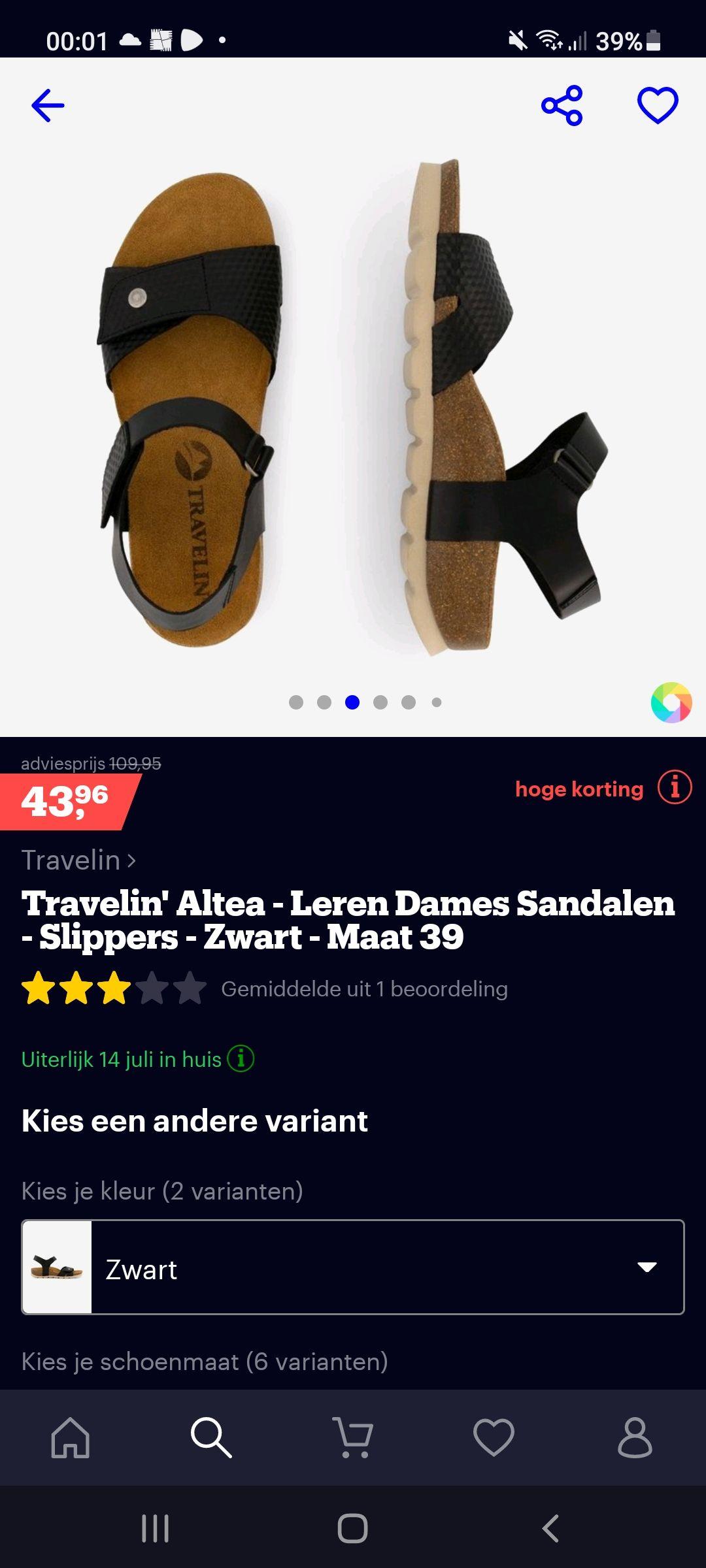 Travelin' Altea leren dames sandalen en meer!
