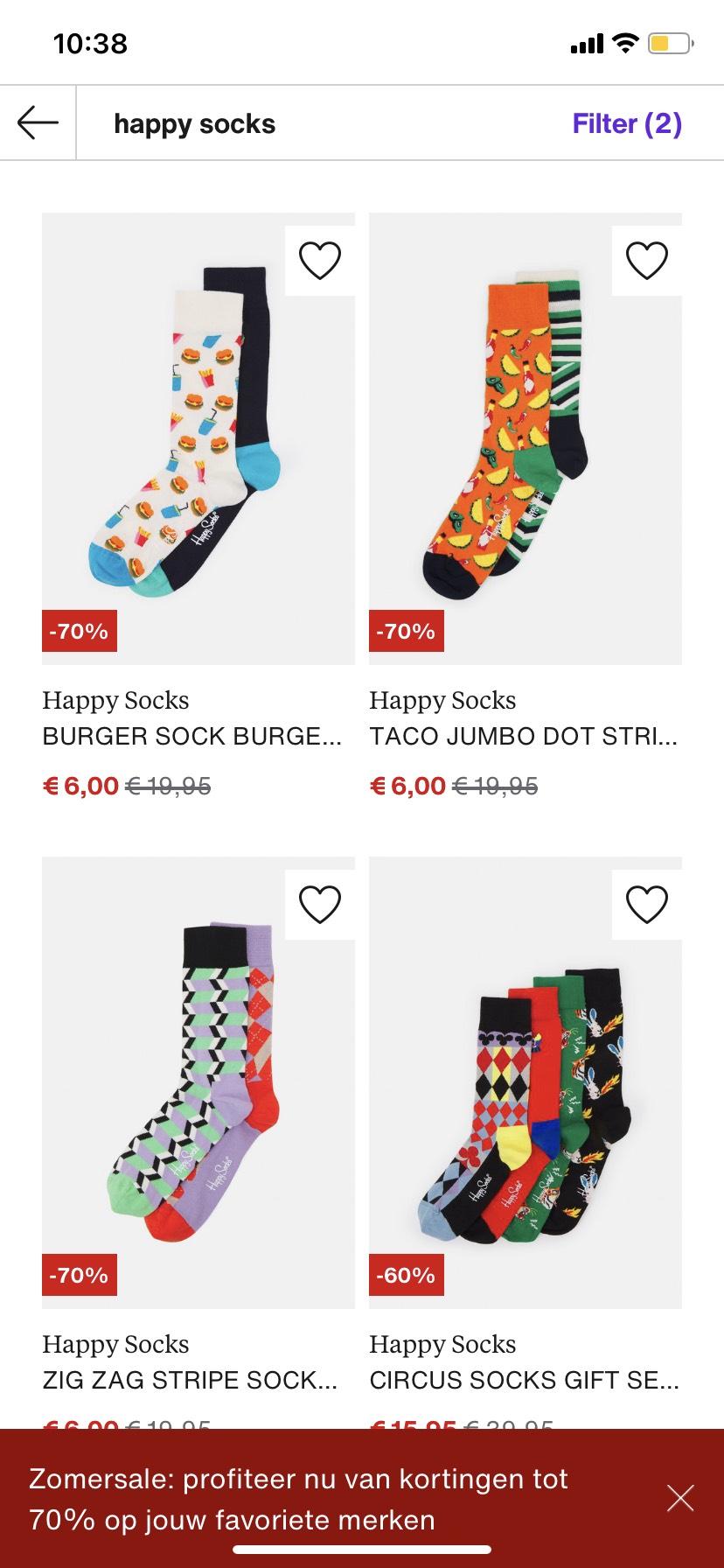 Diverse happy socks met hoge korting