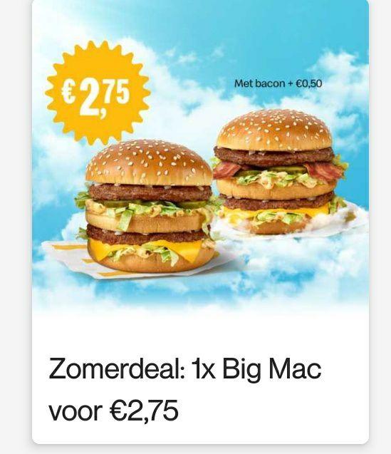 1 Big Mac voor €2,75