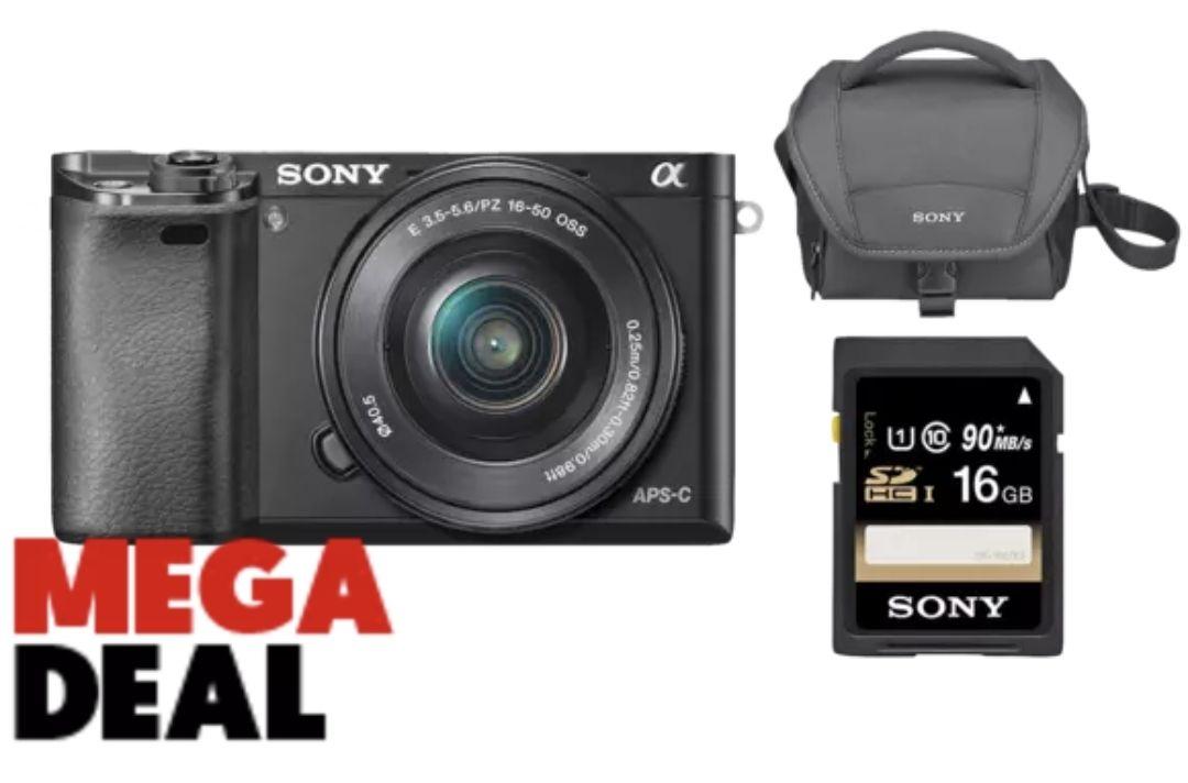 Sony A6000 aps-c camera kit (body, lens, tasje en sd-kaart)