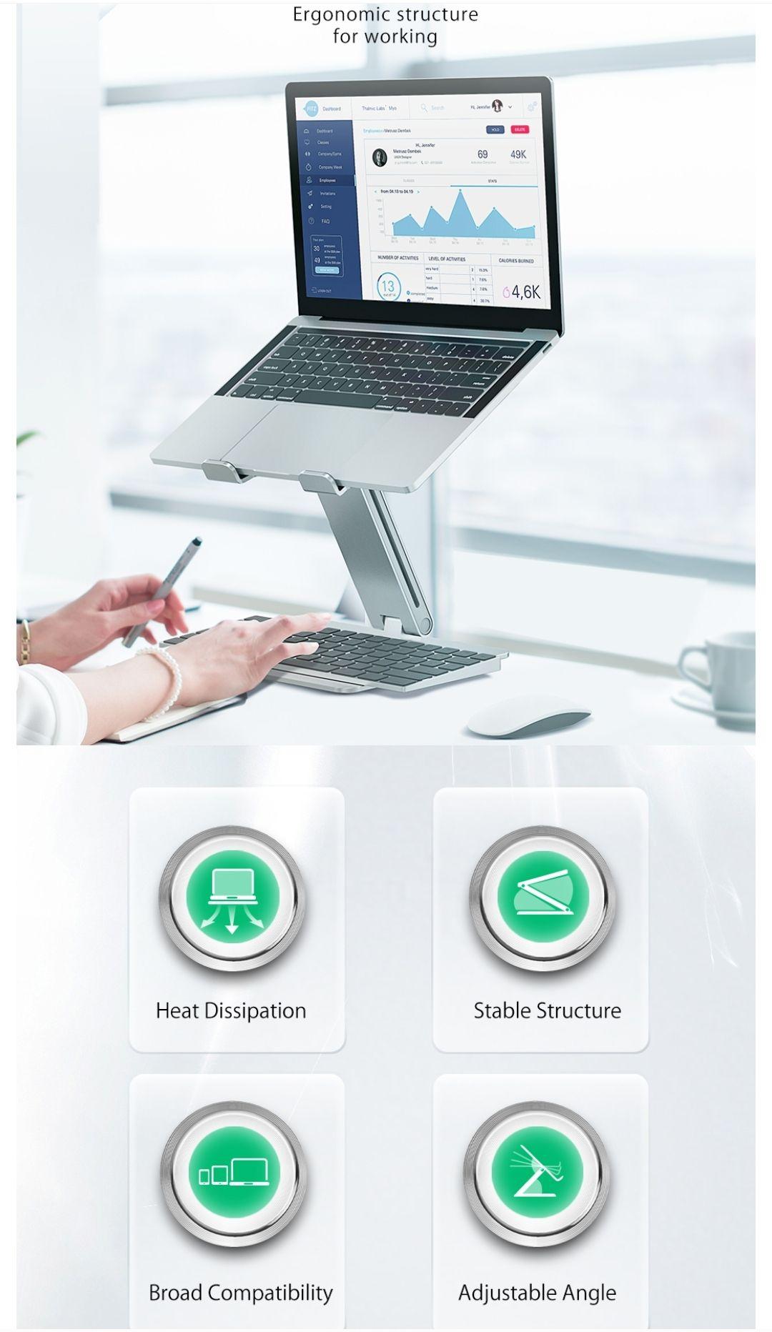BlitzWolf®BW-ELS2 verstelbare laptopstandaard