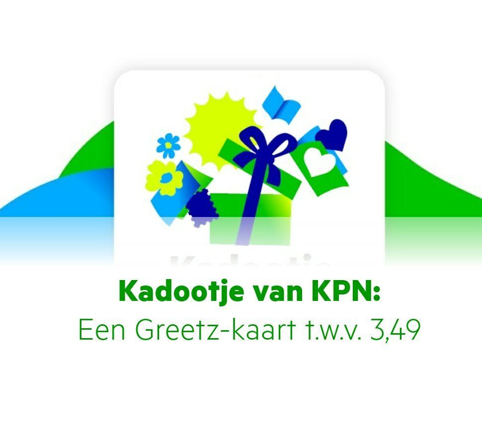 Gratis (onbeperkt) Greetz kaartje versturen (€3,49) voor KPN klanten excl. Postzegel