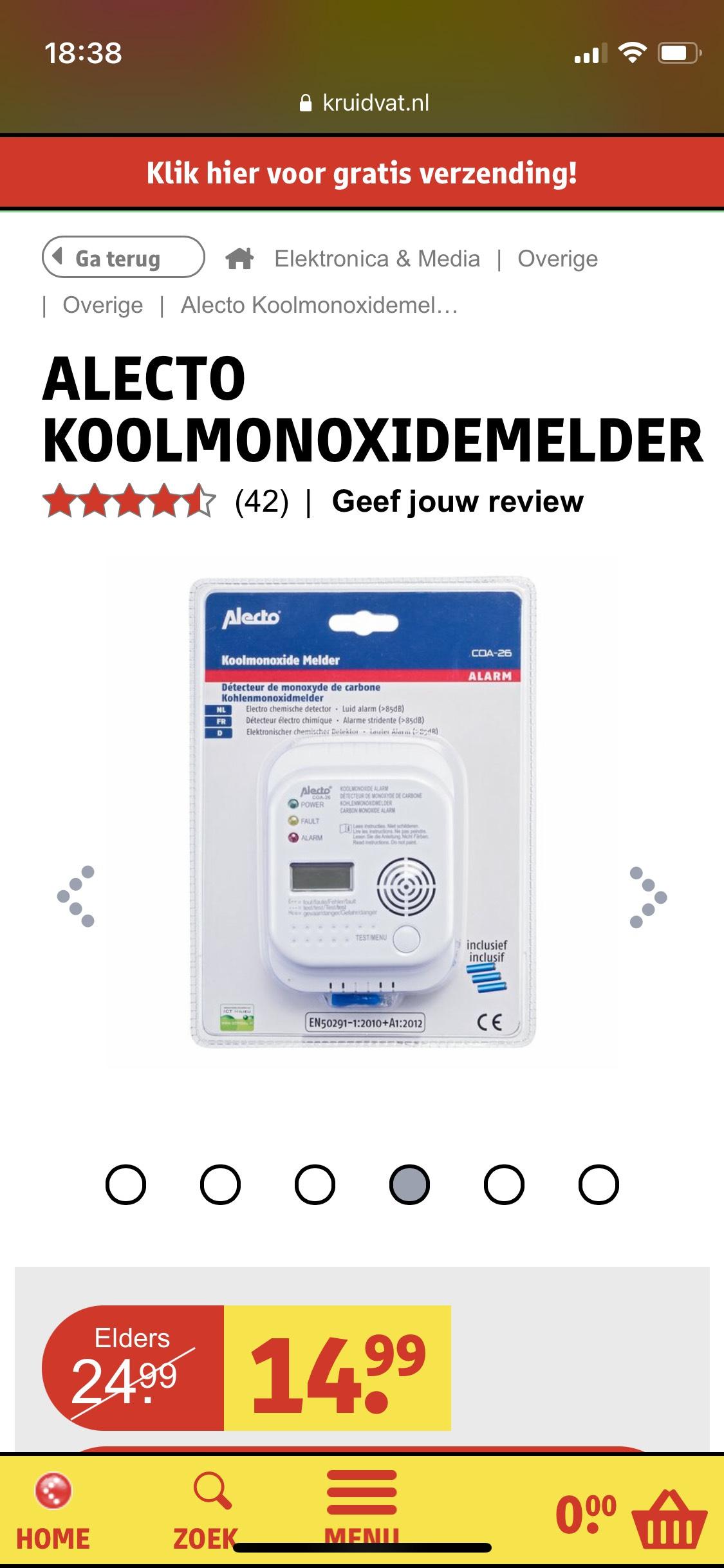 Alecto Koolmonoxidemelder (COA 26)