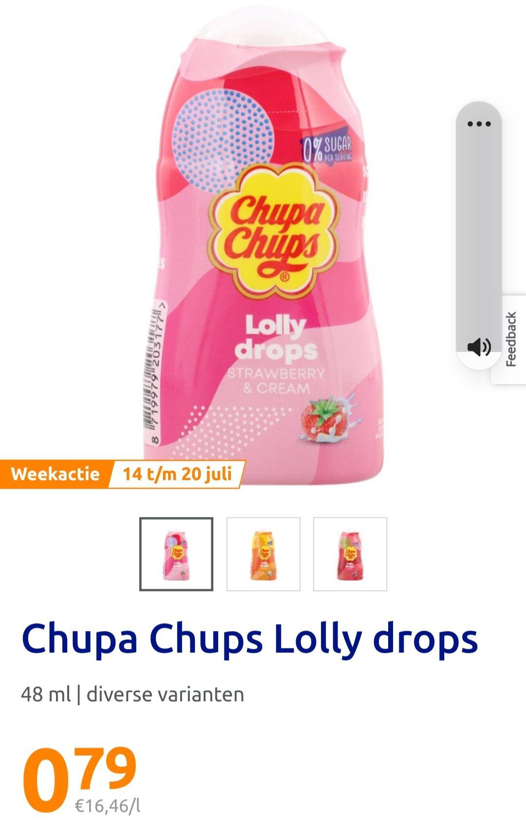 Chupa Chups lolly drops limonade @ Action