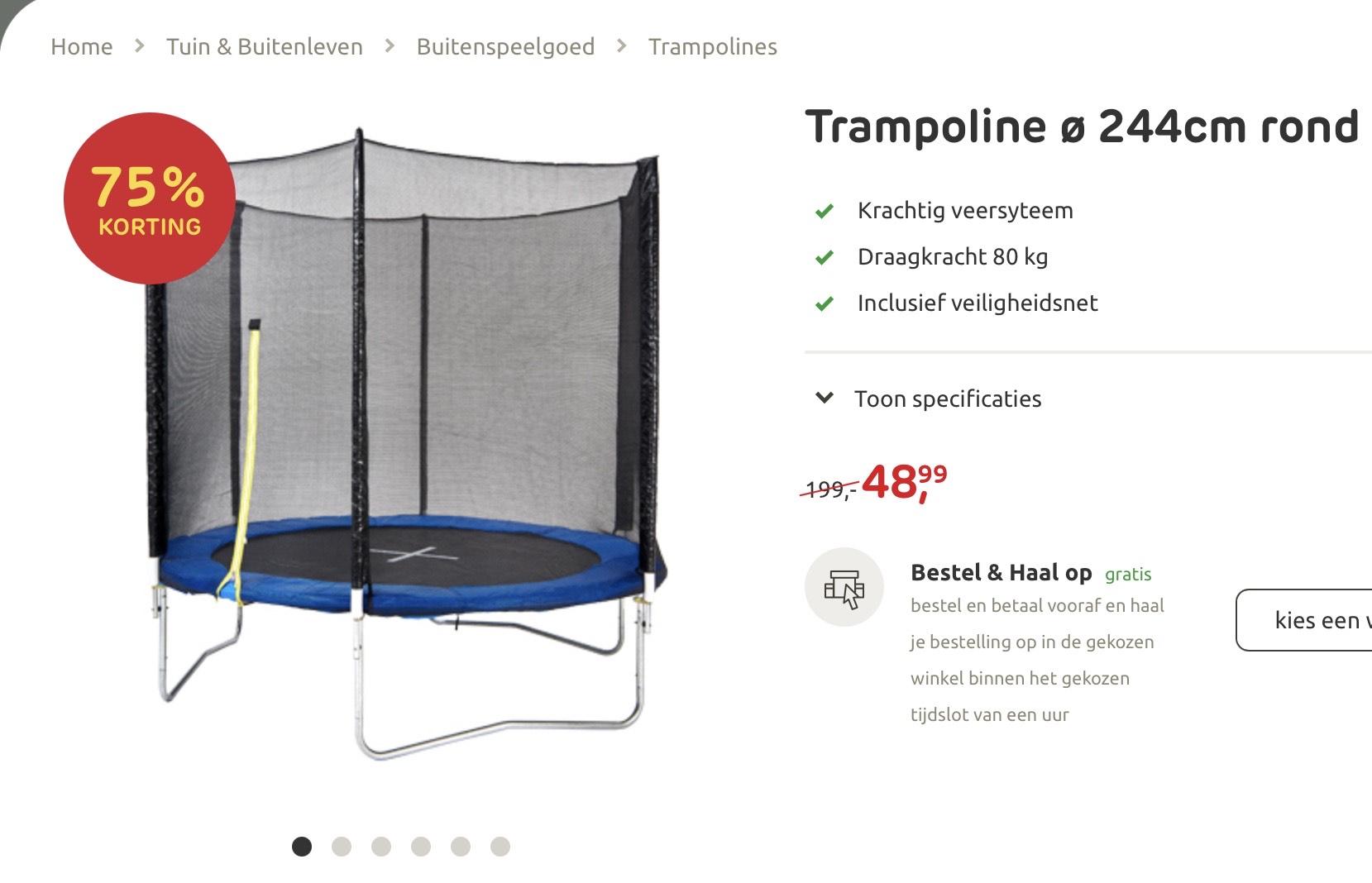 Trampoline Praxis 244cm