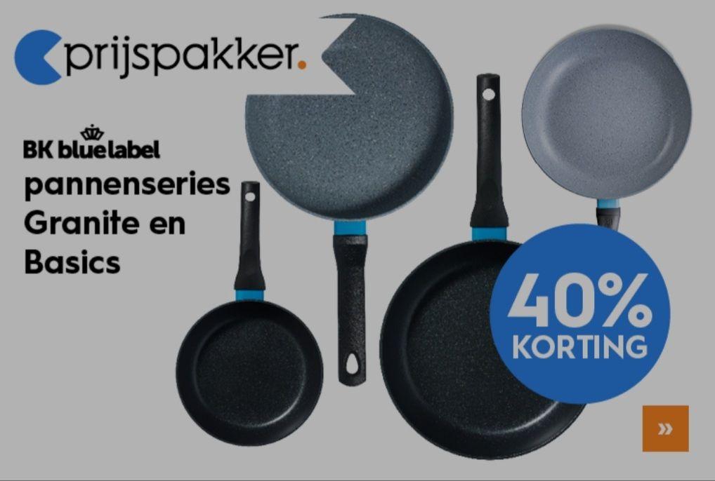 [40% Korting] BK Blue label Basics & Granite koekenpannen (bij de Blokker, ook in de winkel)