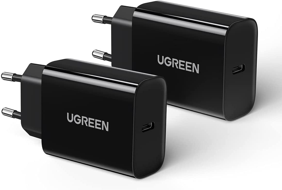 UGREEN 20W USB-C oplader (2 pack) voor €12,99 @ Amazon.nl