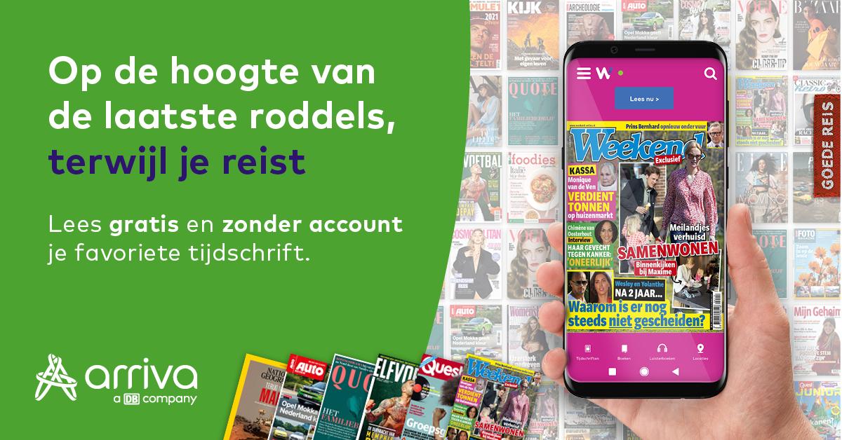 Gratis tijdschriften en (luister)boeken met Wait app
