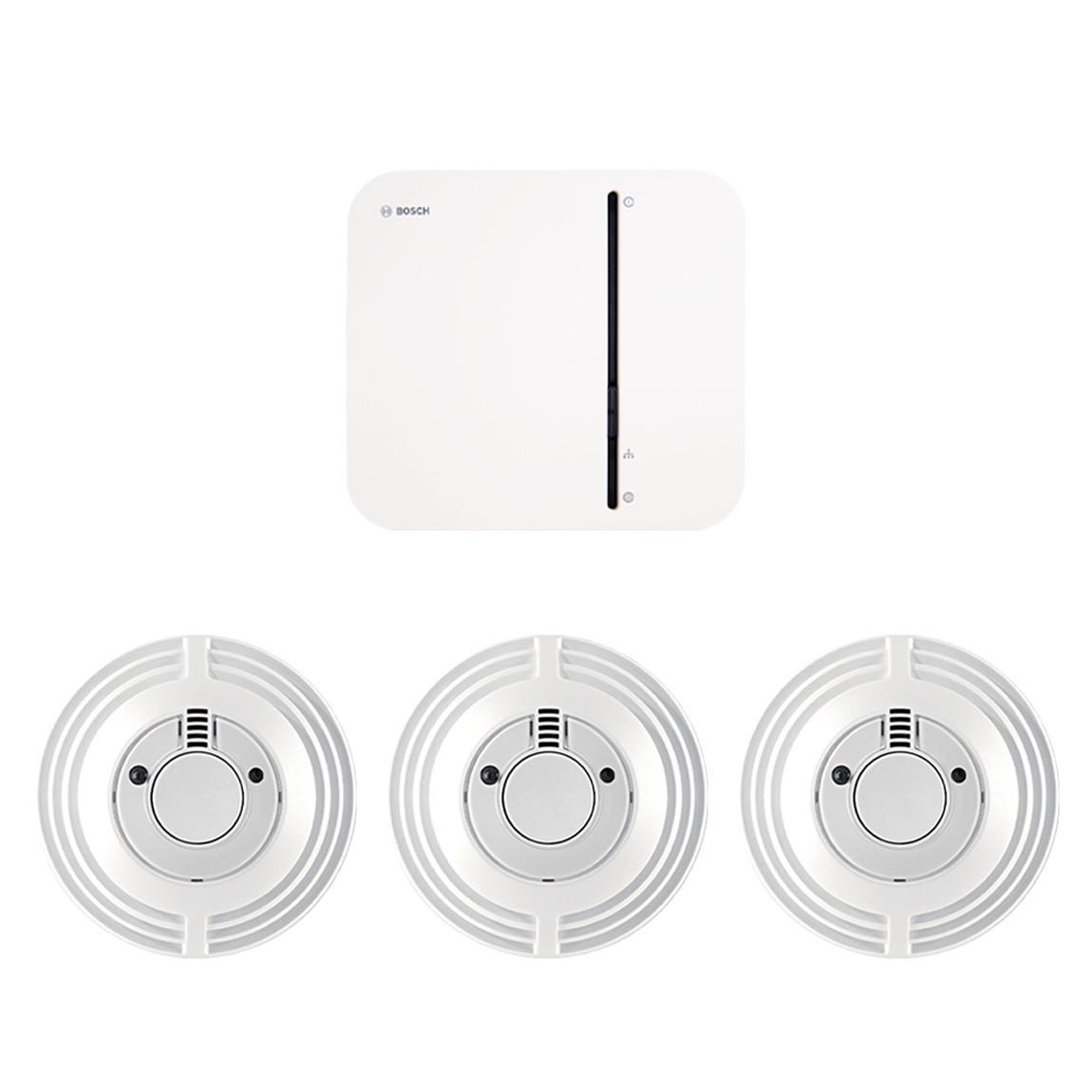 Bosch Smart Home Controller + 3x Rookmelder voor €194 @ tink