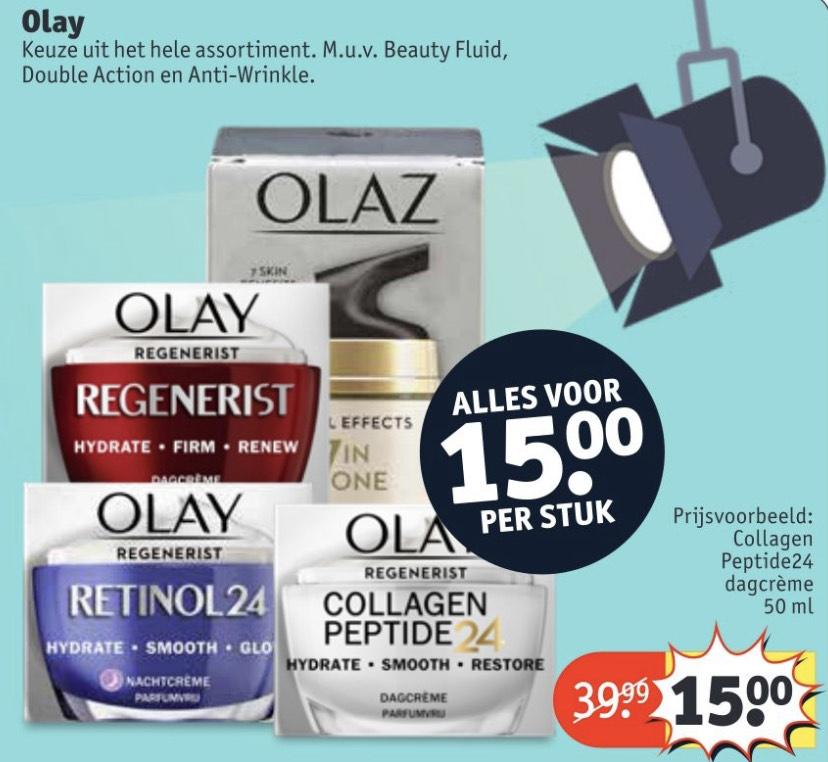 Olay (Olaz) voor €15 bij Kruidvat