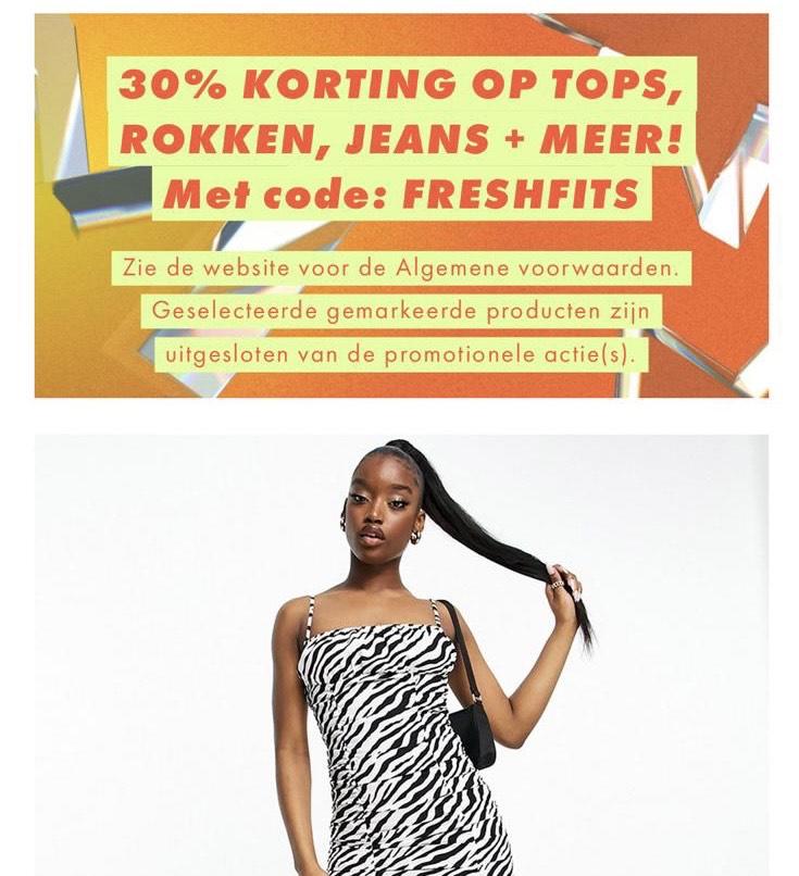 30% Kortingscode Asos.com. Ook op sale
