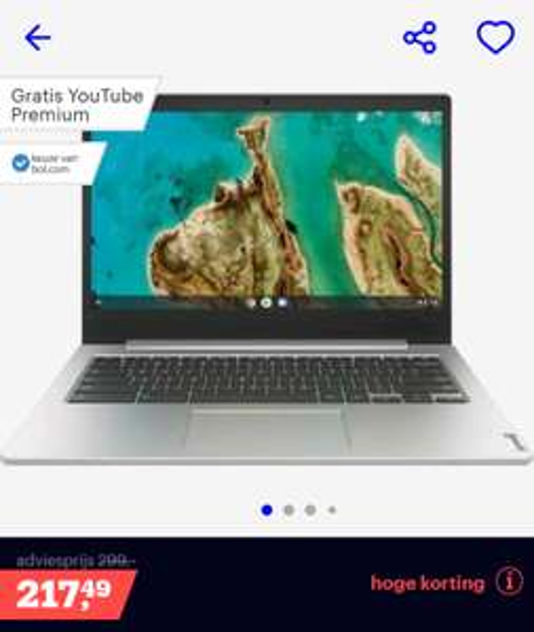 Lenovo Ideapad 3 Chromebook (8gb ram / geen touch )