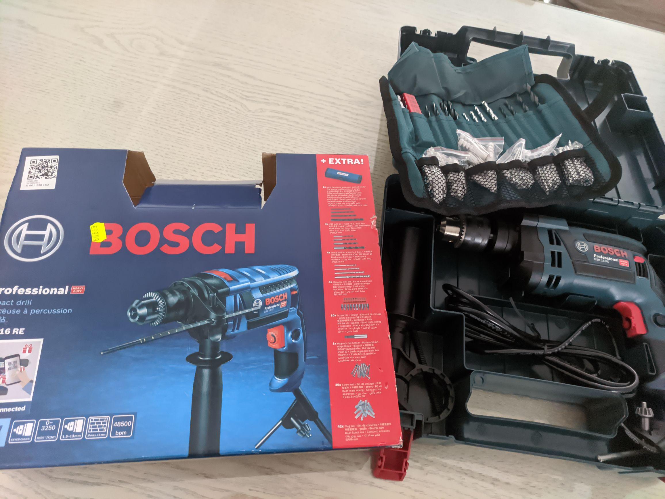 Bosch gsb 16re met accessoires