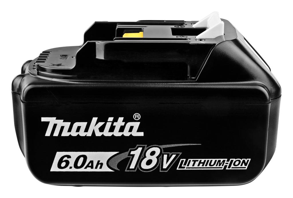 Gratis Makita-accu (BL1860B 18V/6,0Ah) bij tuinmachine