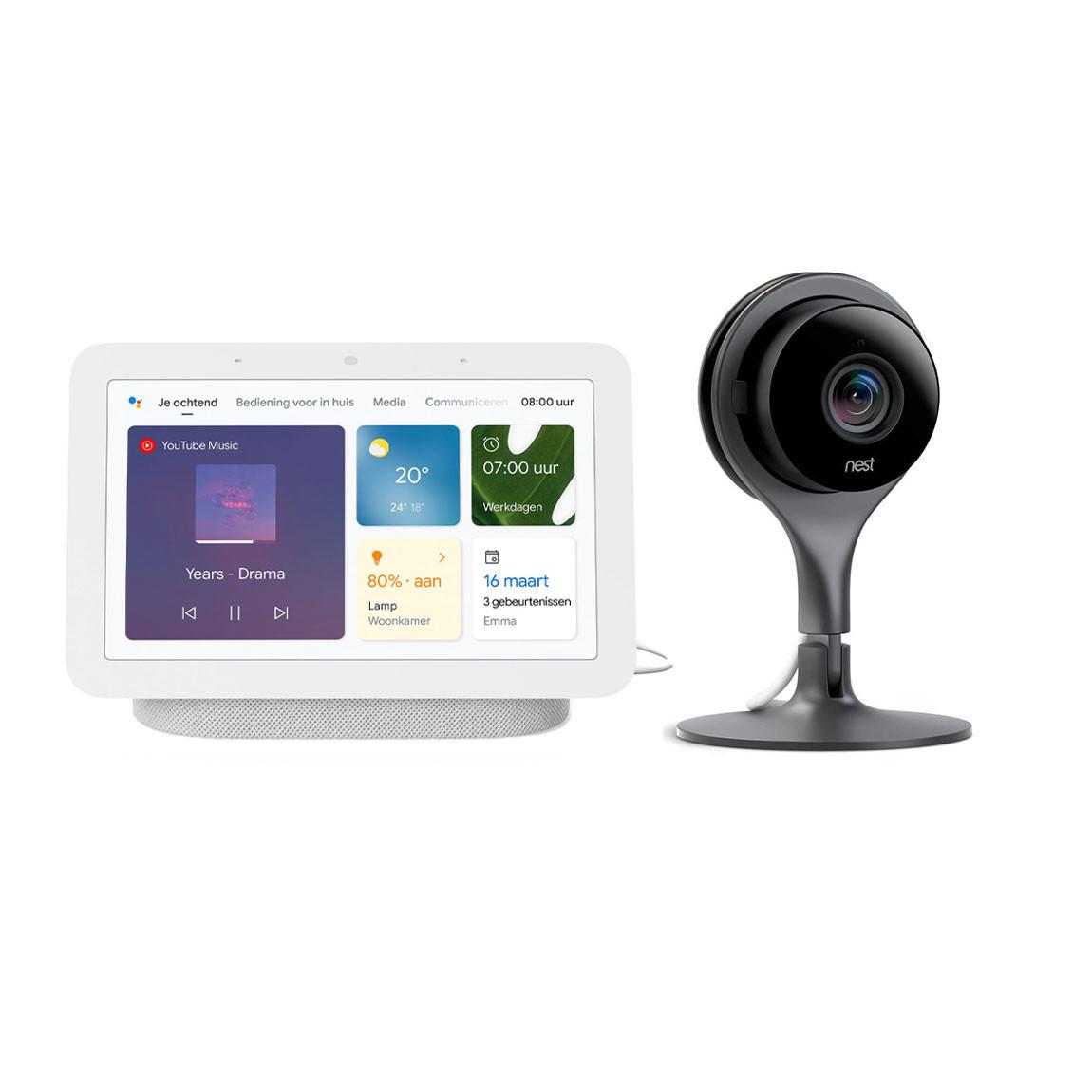 Nest Cam Indoor + Nest Hub (Gen. 2) voor €134 @ tink
