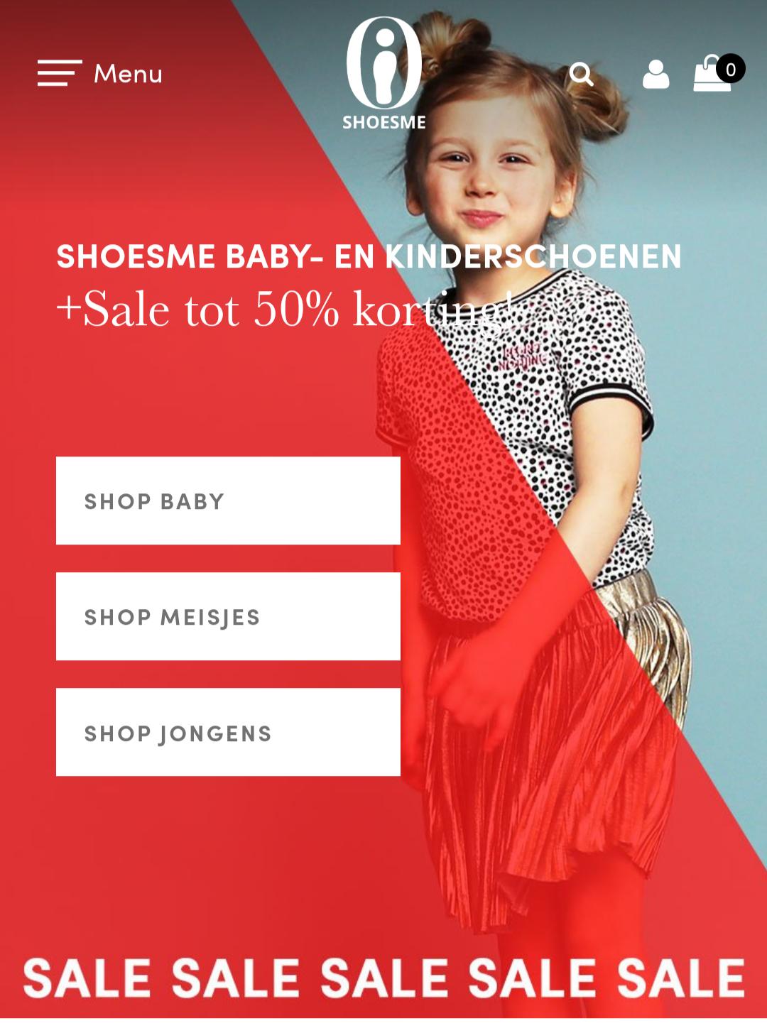 Shoesme kinder en baby schoenen tot 50% korting