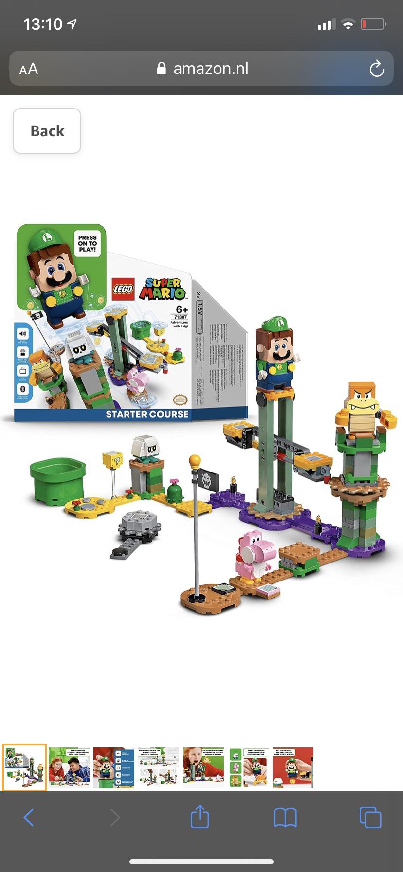 LEGO 71387 Super Mario Avonturen met Luigi Starter Bouwset
