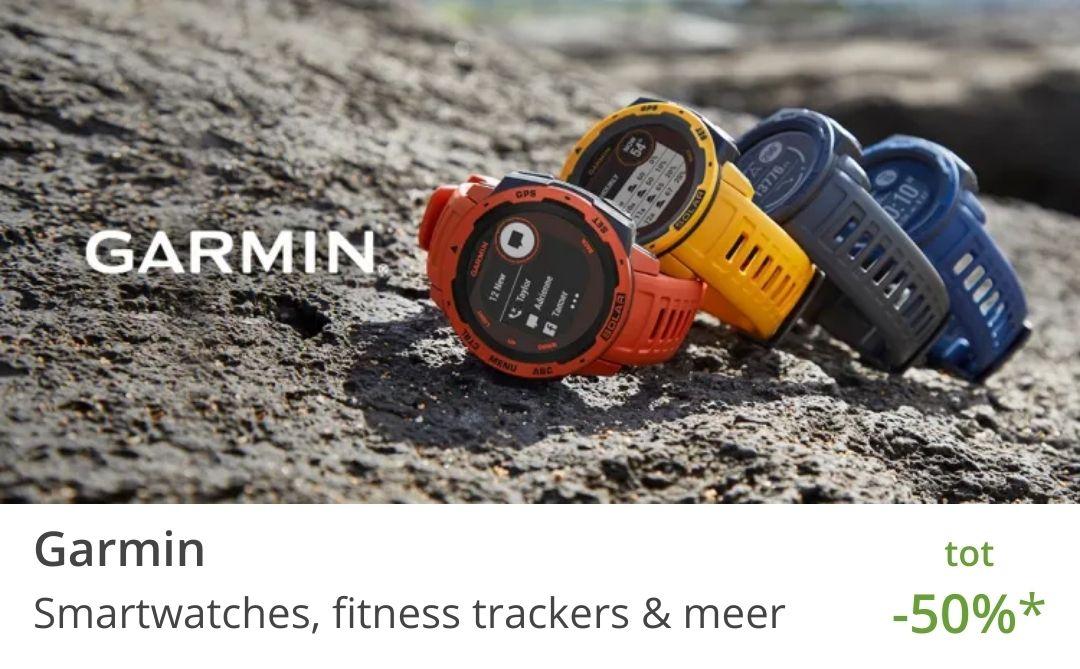 Garmin horloges tot 50% korting