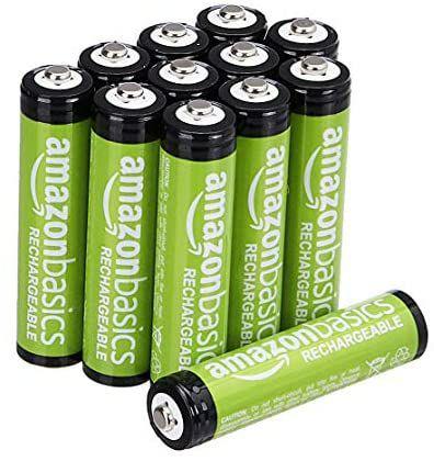 Amazon Basics batterijen (AAA, 12 stuks, heroplaadbaar, voorgeladen)