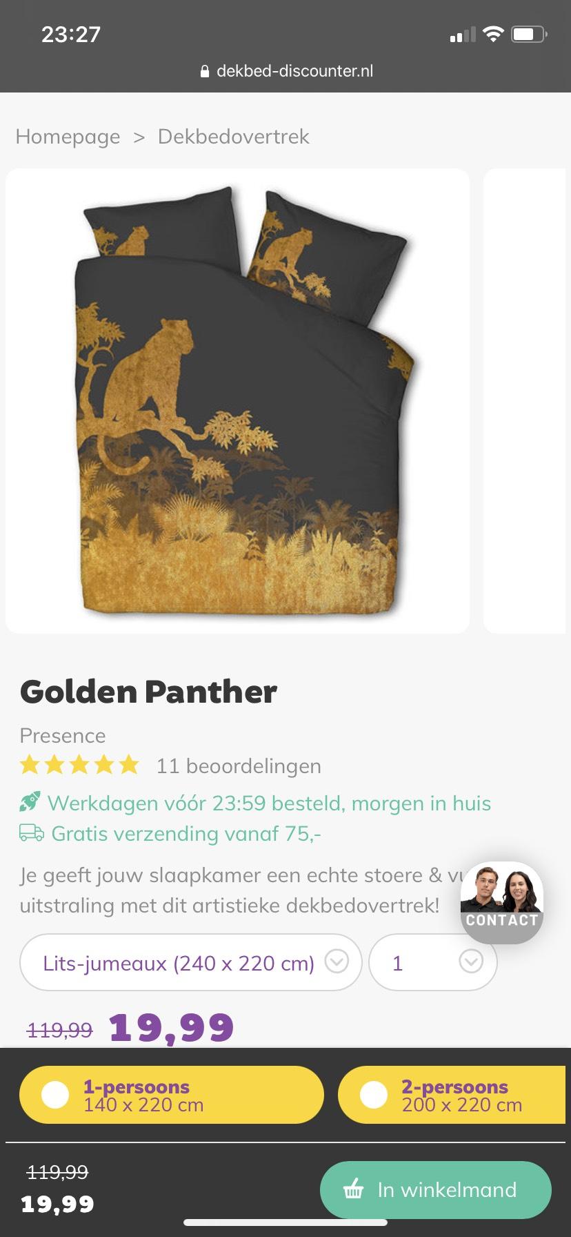 Dekbedovertrek Golden Panther van Presence