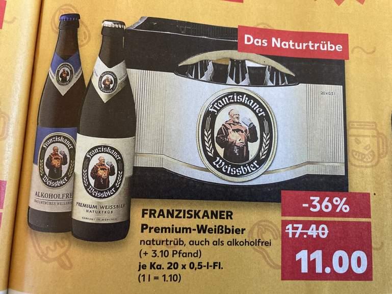 [Grensdeal] Franziskaner Weisbier 20 x 0,5 Liter @ Kaufland Duitsland